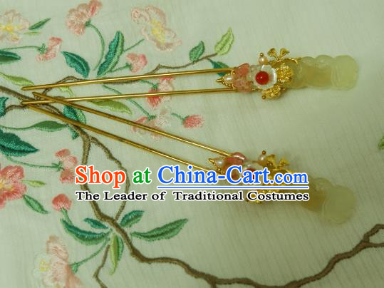 Chinese Traditional Hair Accessories Ancient Hanfu Hairpins for Women