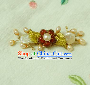 Chinese Traditional Hair Accessories Pearls Hair Stick Ancient Hanfu Hairpins for Women
