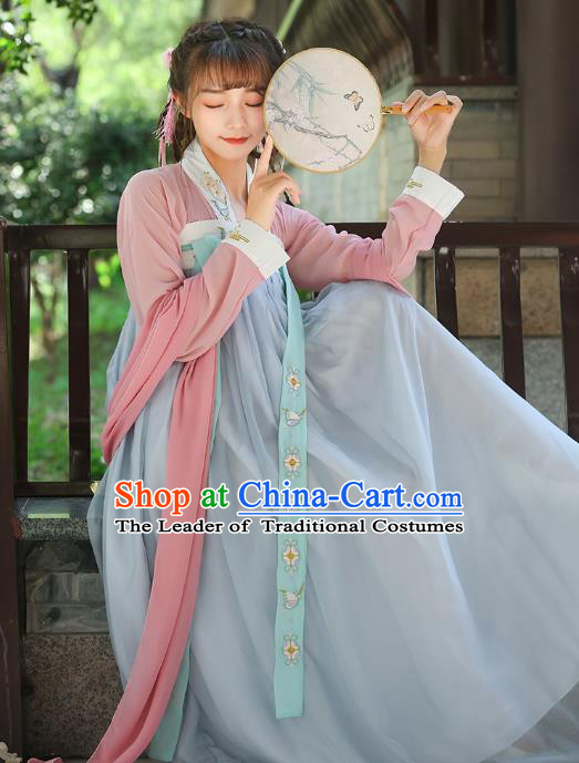Traditional Chinese Ancient Princess Costume Tang Dynasty Palace Hanfu Dress for Women
