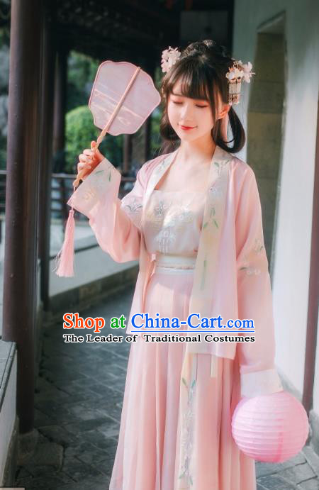 Chinese Ancient Song Dynasty Young Lady Hanfu Clothing for Women