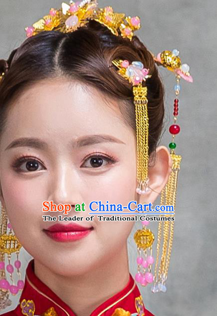 Chinese Traditional Wedding Hair Accessories Hairpins Complete Set for Women
