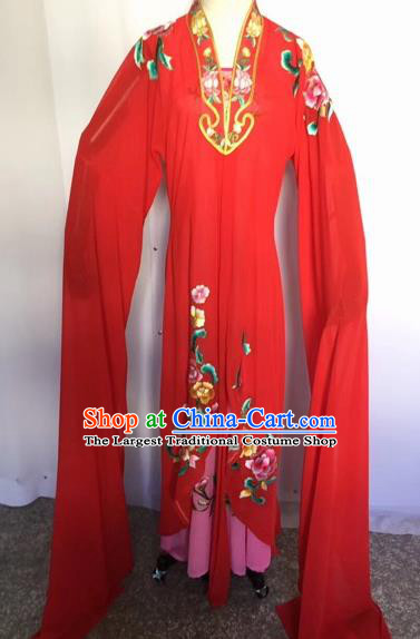 Chinese Traditional Peking Opera Palace Lady Red Dress Beijing Opera Diva Costumes for Adults