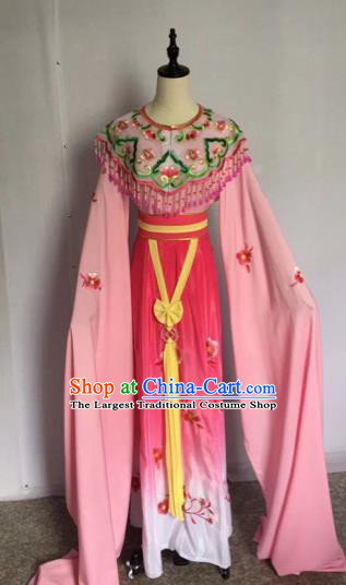 Chinese Traditional Peking Opera Princess Rosy Dress Beijing Opera Diva Costumes for Adults