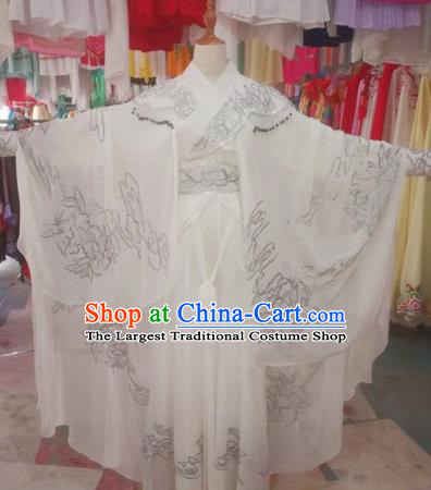 Chinese Traditional Beijing Opera Madam White Snake Dress Peking Opera Diva Costumes for Adults