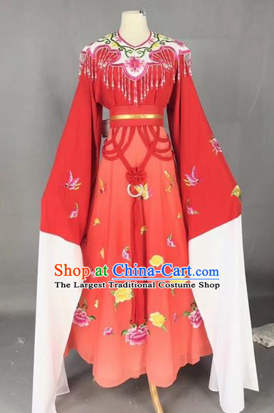 Chinese Traditional Beijing Opera Palace Princess Red Dress Peking Opera Diva Costumes for Adults