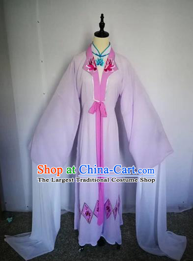 Chinese Traditional Peking Opera Actress Pink Dress Beijing Opera Buddhist Nun Embroidered Costumes for Adults
