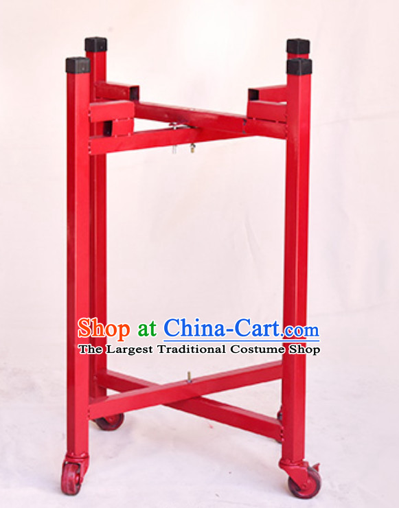 Traditional Handmade Wooden Drum Cart Drum Stand