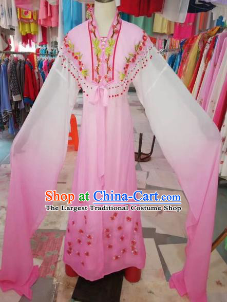Traditional Chinese Peking Opera Princess Costume Beijing Opera Fairy Pink Dress for Adults