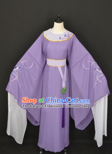 Chinese Traditional Beijing Opera Scholar Purple Robe Peking Opera Niche Costume for Adults
