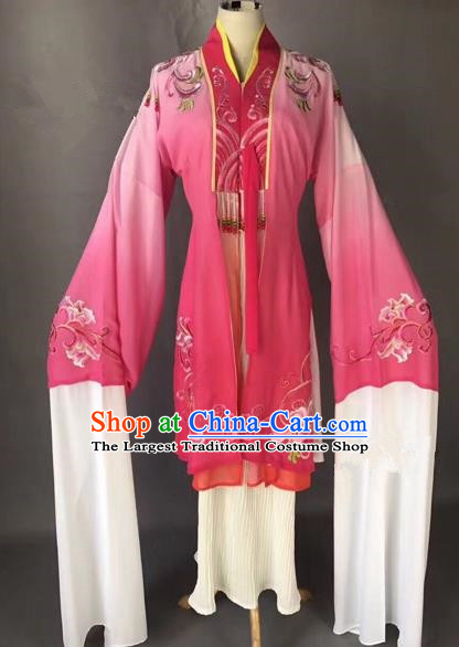Chinese Ancient Peking Opera Palace Lady Pink Dress Traditional Beijing Opera Diva Costumes for Adults