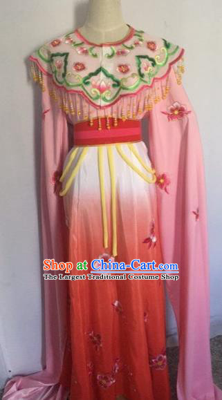 Chinese Ancient Peking Opera Young Lady Red Dress Traditional Beijing Opera Diva Costumes for Adults