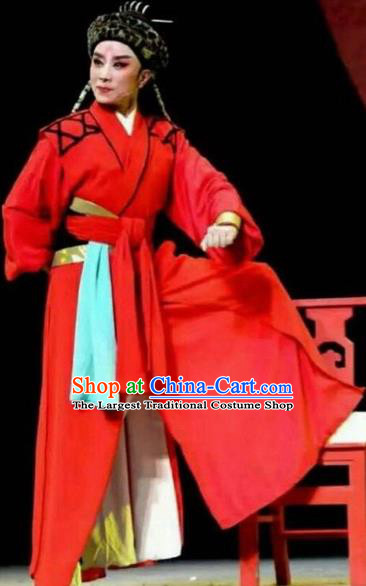 Chinese Traditional Beijing Opera Scholar Red Costume Peking Opera Niche Clothing for Adults