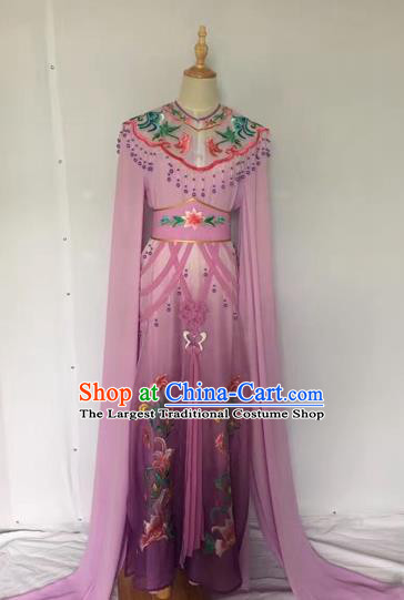 Traditional Chinese Peking Opera Rich Lady Costume Beijing Opera Diva Fairy Purple Dress for Adults