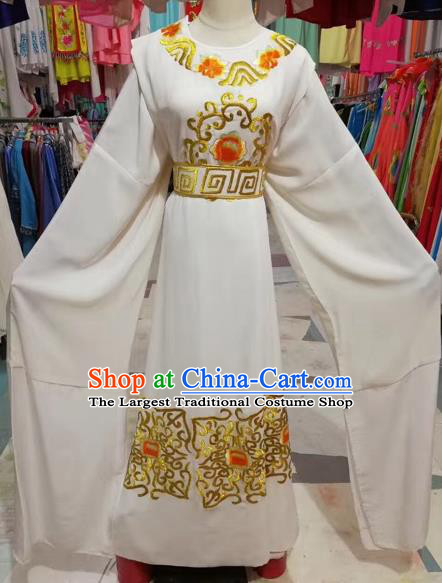 Chinese Beijing Opera Niche White Robe Traditional Peking Opera Prince Costume for Adults