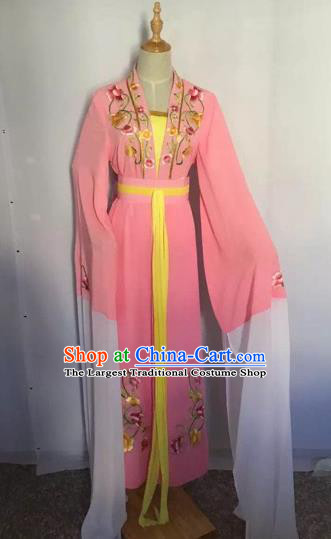 Chinese Peking Opera Princess Fairy Pink Dress Traditional Beijing Opera Diva Costume for Adults