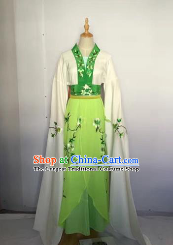 Chinese Huangmei Opera Fairy Green Dress Traditional Beijing Opera Diva Costume for Adults