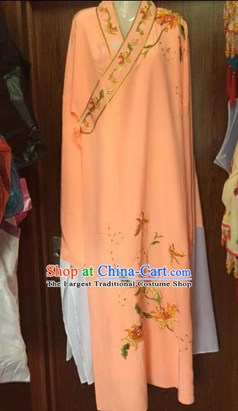 Chinese Beijing Opera Niche Orange Robe Traditional Peking Opera Costume for Adults
