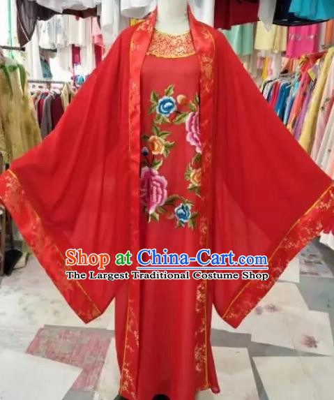 Chinese Beijing Opera Scholar Red Clothing Traditional Peking Opera Niche Costume for Adults