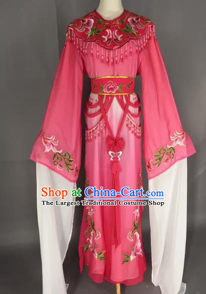 Chinese Beijing Opera Nobility Lady Rosy Dress Ancient Princess Costume for Adults