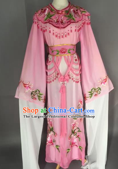 Chinese Beijing Opera Nobility Lady Pink Dress Ancient Princess Costume for Adults