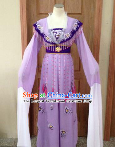 Chinese Beijing Opera Diva Purple Dress Ancient Imperial Consort Costume for Adults