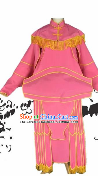 Chinese Beijing Opera General Pink Clothing Traditional Peking Opera Takefu Costumes for Adults