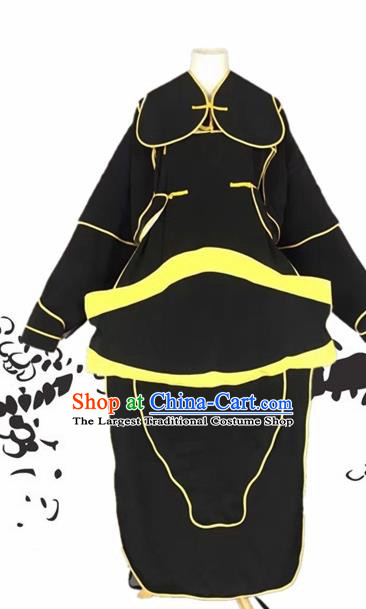 Chinese Beijing Opera General Black Clothing Traditional Peking Opera Takefu Costumes for Adults