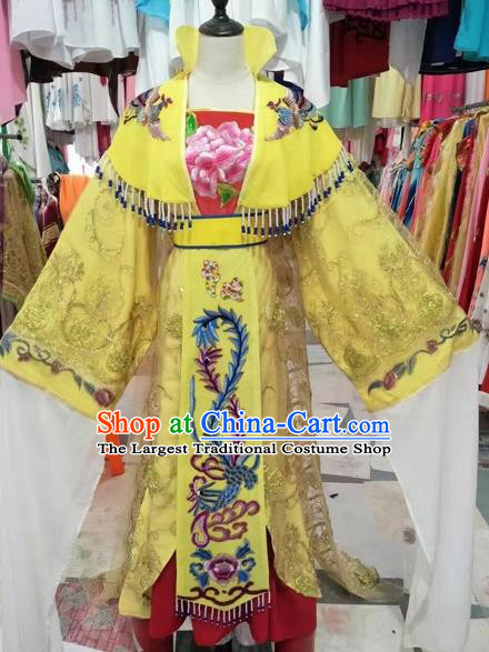 Chinese Shaoxing Opera Imperial Empress Embroidered Dress Traditional Beijing Opera Diva Costume for Adults