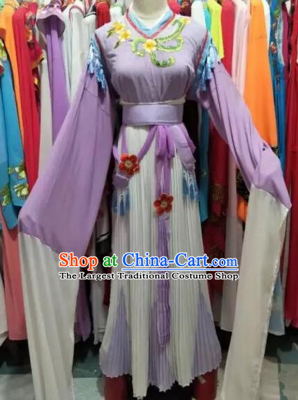 Chinese Huangmei Opera Rich Women Purple Dress Traditional Beijing Opera Diva Costume for Adults