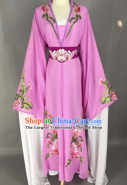 Chinese Beijing Opera Actress Purple Dress Ancient Rich Lady Costume for Adults