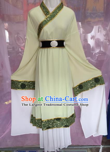 Chinese Beijing Opera Scholar Green Clothing Traditional Peking Opera Niche Costumes for Adults