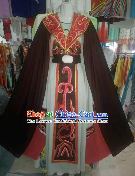 Chinese Traditional Peking Opera Empress Hanfu Dress Ancient Han Dynasty Queen Costume for Adults