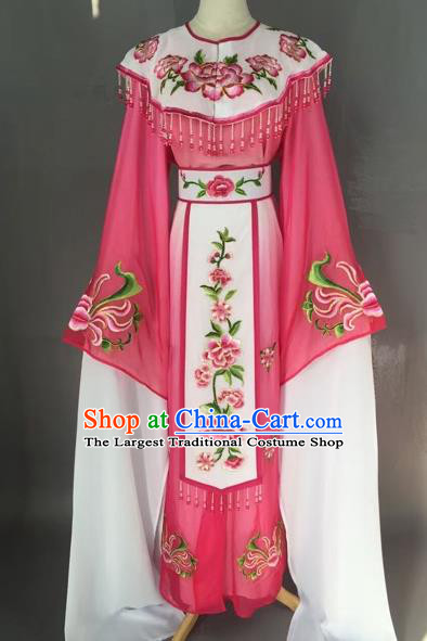 Chinese Beijing Opera Diva Rosy Dress Clothing Ancient Princess Costume for Adults