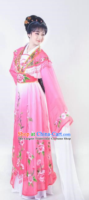 Chinese Traditional Beijing Opera Actress Pink Dress Ancient Nobility Lady Costume for Adults