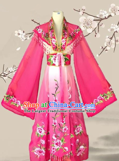 Chinese Ancient Palace Princess Costume Traditional Beijing Opera Actress Rosy Dress for Adults