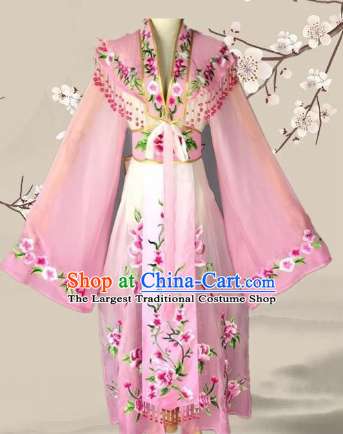 Chinese Ancient Palace Princess Costume Traditional Beijing Opera Actress Pink Dress for Adults