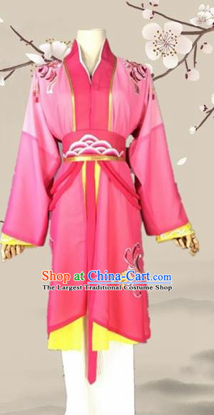 Chinese Ancient Swordswoman Pink Costume Traditional Beijing Opera Martial Arts Women Dress for Adults