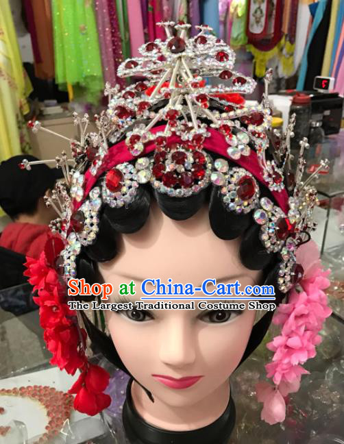 Chinese Traditional Beijing Opera Diva Hair Accessories Peking Opera Headdress Complete Set for Women