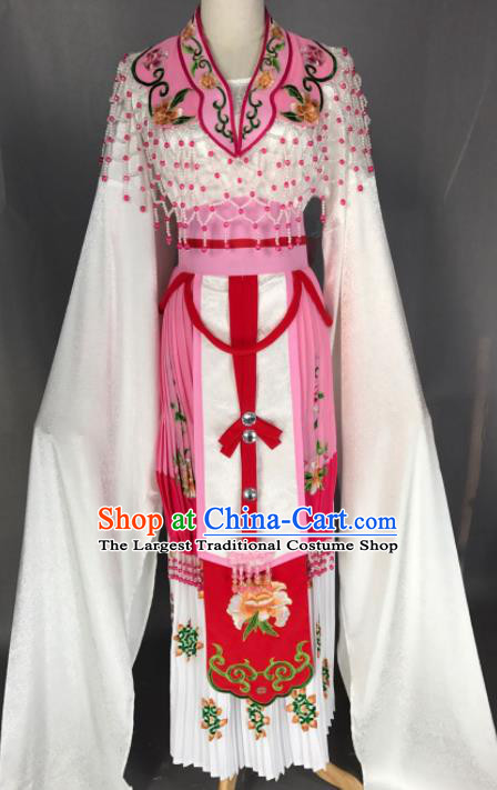 Chinese Ancient Princess Pink Costume Traditional Beijing Opera Diva Dress for Adults