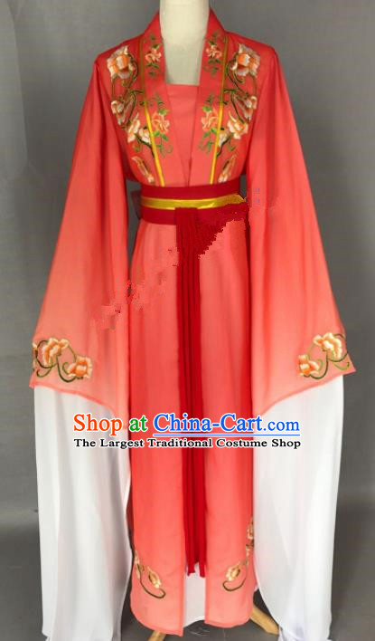 Chinese Ancient Princess Red Costume Traditional Beijing Opera Diva Dress for Adults