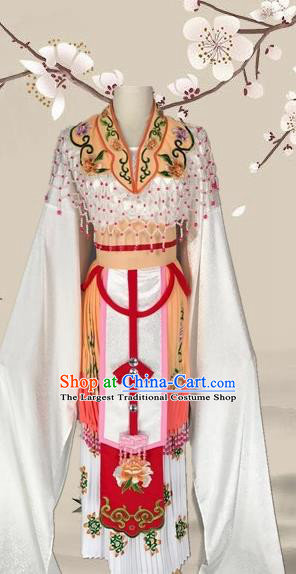 Chinese Ancient Imperial Consort Yellow Dress Traditional Beijing Opera Diva Costume for Adults