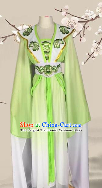 Chinese Ancient Palace Princess Green Dress Traditional Beijing Opera Diva Costume for Adults