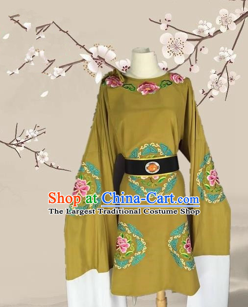 Chinese Ancient Dowager Countess Green Clothing Traditional Beijing Opera Pantaloon Costume for Adults