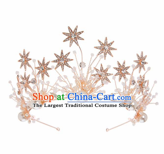 Top Grade Bride Hair Accessories Princess Crystal Hair Clasp Royal Crown Headwear for Women