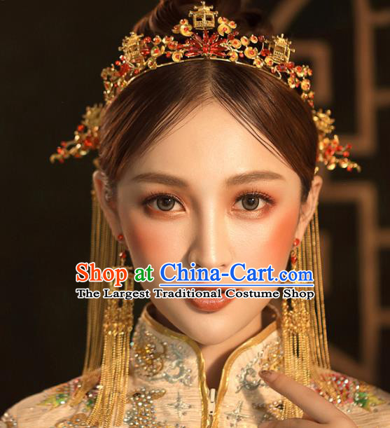 Chinese Ancient Hanfu Hair Clasp Wedding Hair Accessories Traditional Hairpins for Women