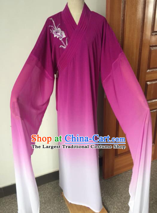 Chinese Beijing Opera Purple Clothing Traditional Peking Opera Niche Costume for Adults