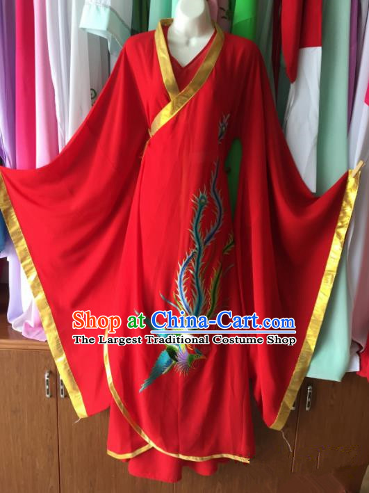 Chinese Ancient Fairy Red Hanfu Dress Traditional Beijing Opera Actress Costume for Adults