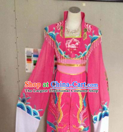 Chinese Ancient Imperial Consort Rosy Hanfu Dress Traditional Beijing Opera Actress Costume for Adults