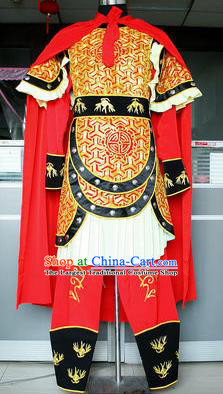 Chinese Beijing Opera Takefu Armor Traditional Peking Opera General Costume for Adults