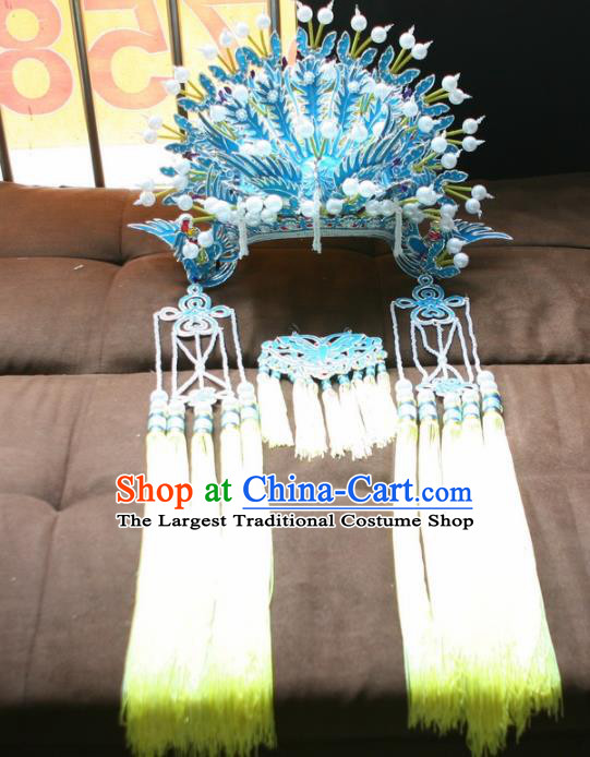 Chinese Beijing Opera Queen Phoenix Coronet Traditional Peking Opera Diva Headwear for Adults